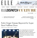 ELLE MAGAZINE FEATURES RUBIN SINGER AND HIS 2013 FALL COLLECTION