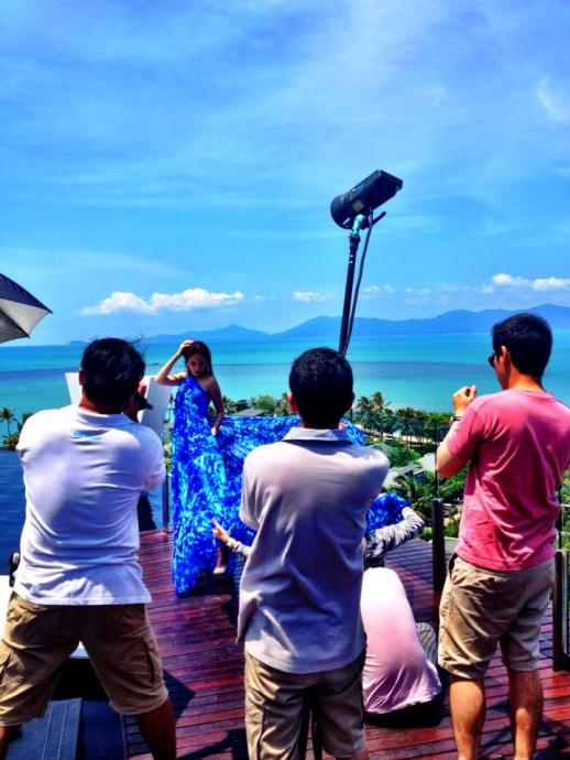 Backtage Photo Shoot Koh Samui Thailand for L'Officiel Magazine