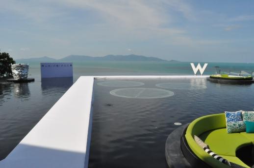 RUNWAY ALMOST READY FOR THE VIP FASHION SHOW TODAY AT W RETREAT KOH SAMUI