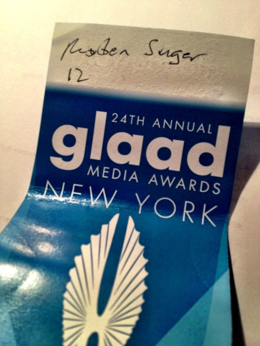 RUBIN SINGER at the 24th Annual GLAAD Media Awards in New York