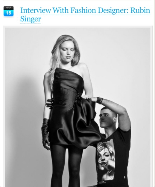 INTERVIEW WITH FASHION DESIGNER RUBIN SINGER BY THE BEST FASHION BLOG