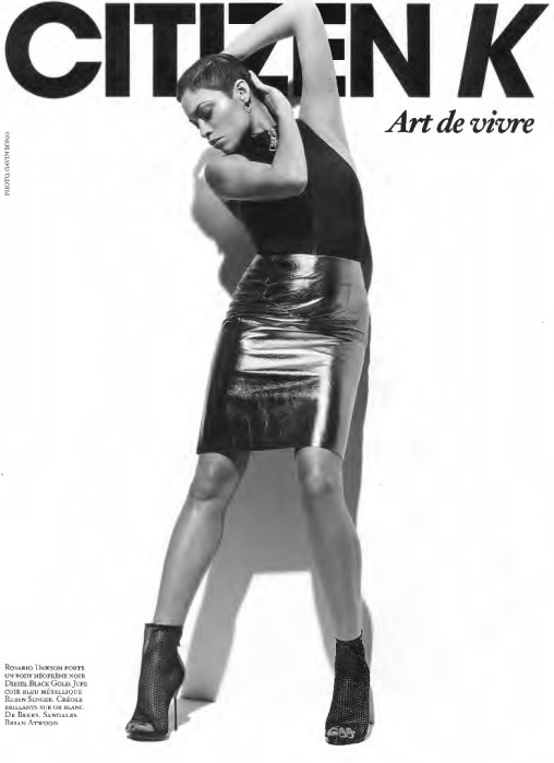 CITIZEN K FEATURES ACTRESS ROSARIO DAWSON ON THE COVER OF THEIR SPRING ISSUE WEARING RUBIN SINGER