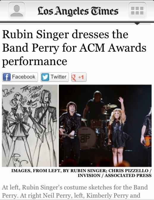 LOS ANGELES TIMES FEATURES RUBIN SINGER