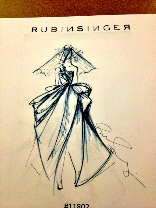 Rubin Singer Bridal Collection 2013 Original Sketches