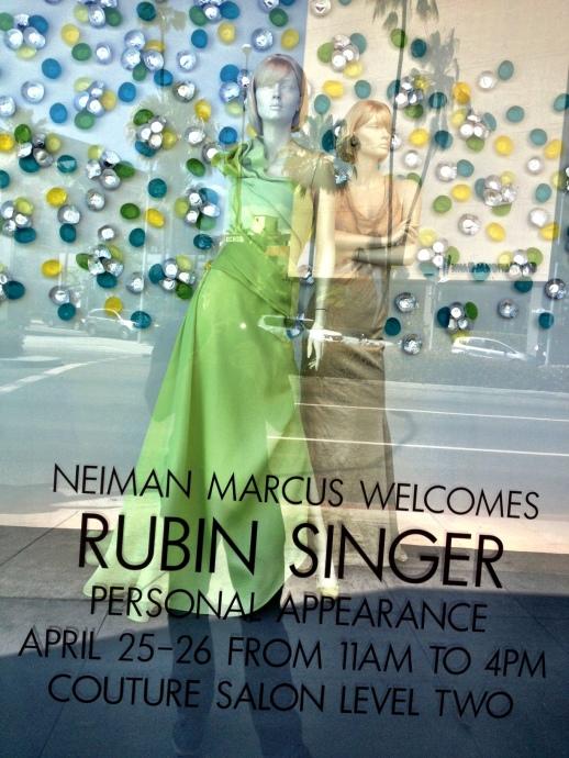 RUBIN SINGER TAKES OVER NEIMAN MARCUS BEVERLY HILLS' WINDOW DISPLAYS OVER WILSHIRE BOULEVARD