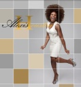 ALEXIS HOUSTON FEATURES RUBIN SINGER's DESING ON THE COVER OF HER NEW WEBSITE