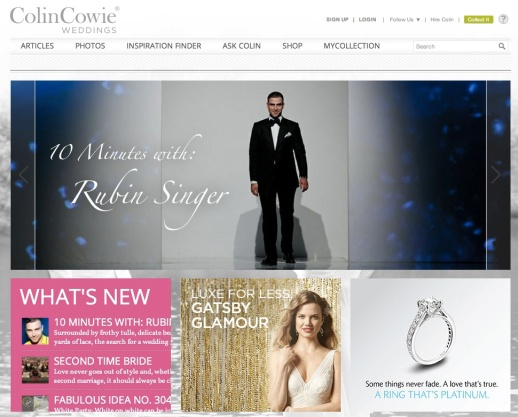 COLIN COWIE WEDDINGS: 10 MINUTES WITH RUBIN SINGER