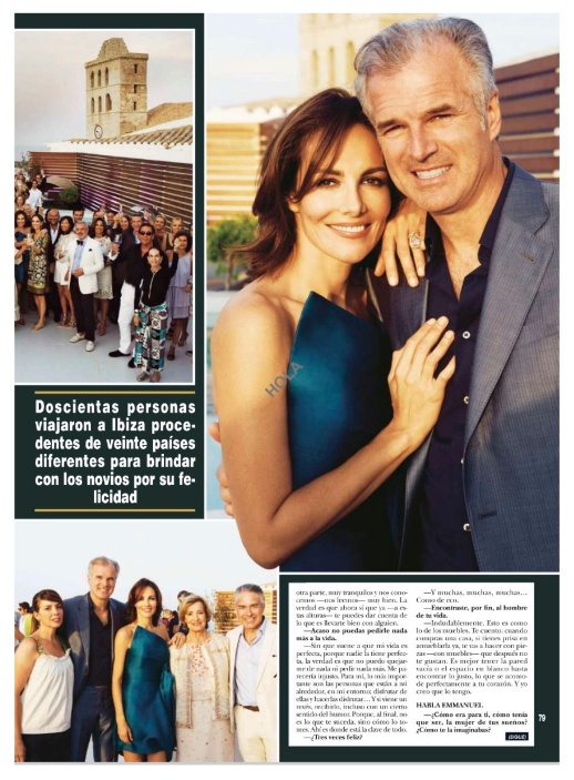 ADRIANA ABASCAL IBIZA WEDDING RECEPTION WEARING RUBIN SINGER FEATURED ON REVISTA HOLA