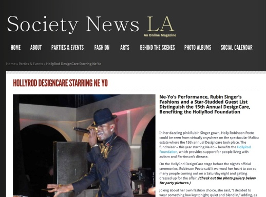 Society News L.A. features Rubin Singer's Fashion Show