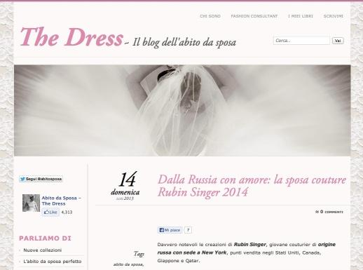 The Dress - Il blog dell'abito da sposa features Rubin Singer