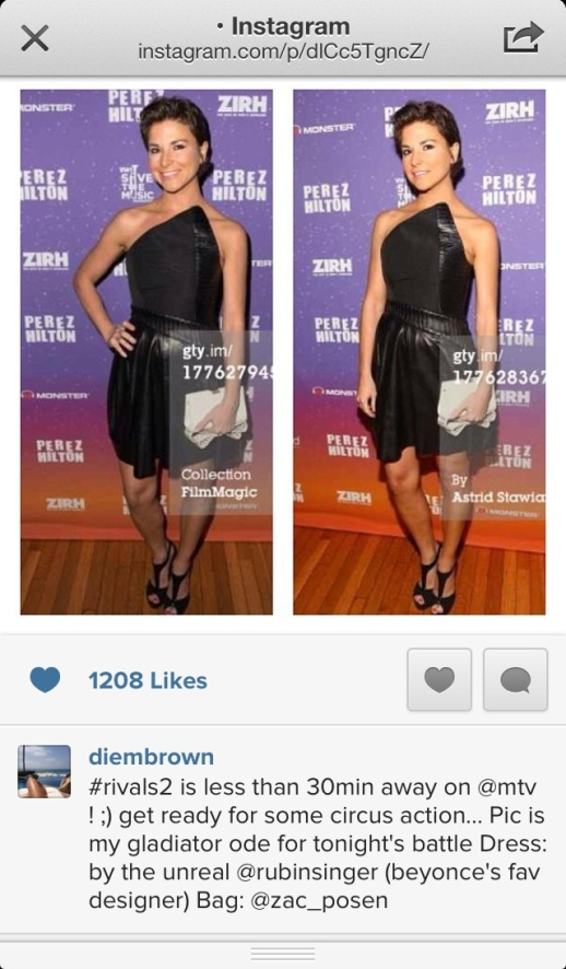 Diem Brown at Perez Hilton's One Night In Brooklyn by Rubin Singer