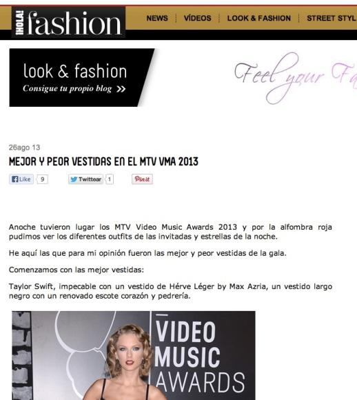 HOLA! MODA BEST AND WORST LOOKS MTV VMAs 2013