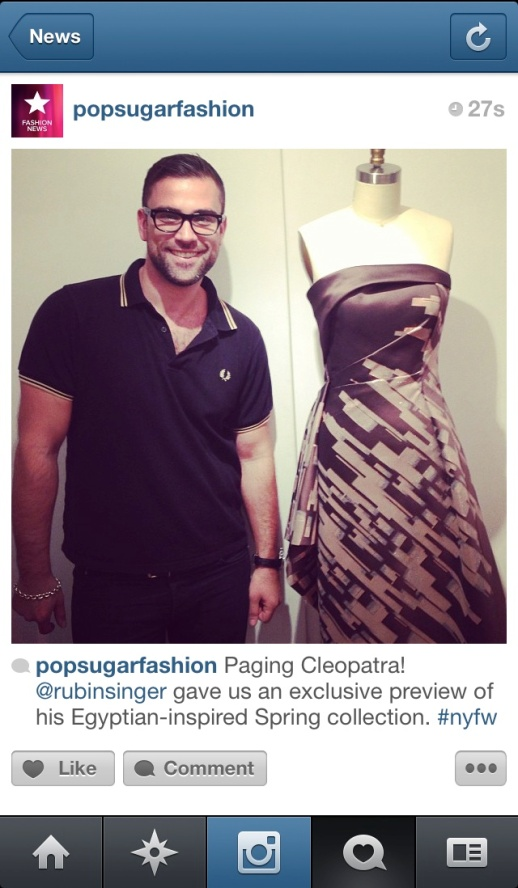 NEW YORK FASHION WEEK BY POPSUGAR FASHION PAGING CLEOPATRA!