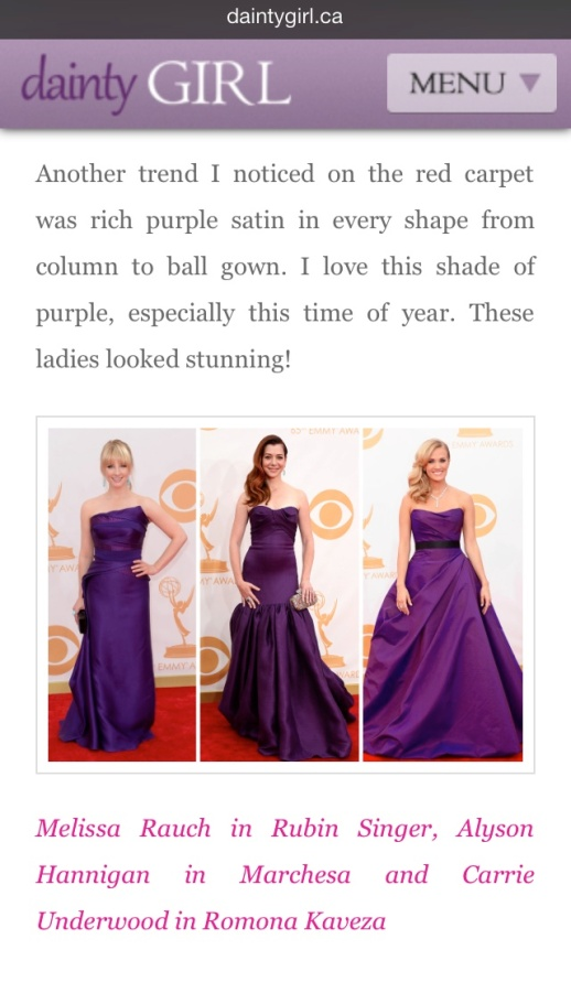 Diary Girl barfitoarea.ro Press Clipping Melissa Rauch wearing Rubin Singer at 65th EMMY Awards Red Carpet