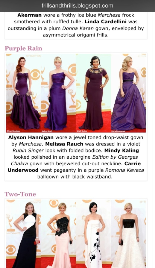 Fills and Thrilss barfitoarea.ro Press Clipping Melissa Rauch wearing Rubin Singer at 65th EMMY Awards Red Carpet