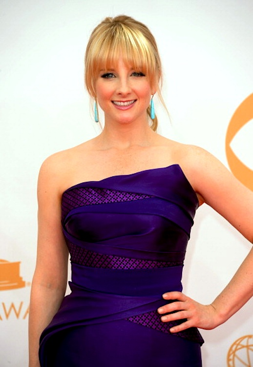 Melissa Rauch wearing Rubin SInger at the 65th Annual Primetime Emmy Awards