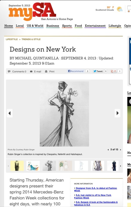 mySA features Rubin Singer's Sketches S/S 2014