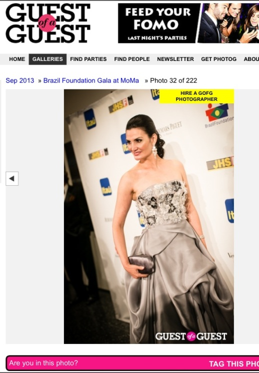 Socialite Alessandra Emanuel wearing Rubin Singer at the Brazil Foundation Gala at MOMA