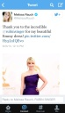 Press Clipping Melissa Rauch wearing Rubin Singer at 65th EMMY Awards Red Carpet