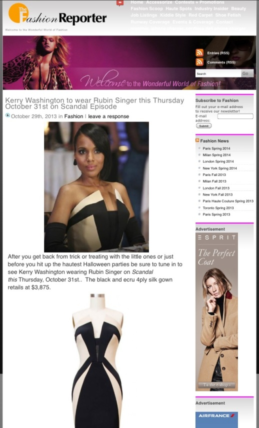 RUBIN SINGER SCANDAL COUTURE by Fashion Report