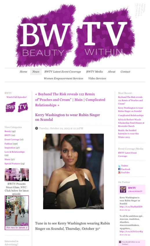 RUBIN SINGER SCANDAL COUTURE by Beauty Within TV