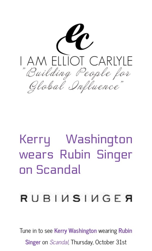 RUBIN SINGER SCANDAL COUTURE  by Elliot Carlyle
