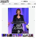 Abbe Raven encouraged women storytelling at Variety's Power of Women wearing Rubin Singer