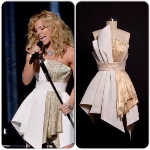 "Kimberly Perry ""The Band Perry"" Performs live at CMA Awards 2013 wearing Rubin Singer"