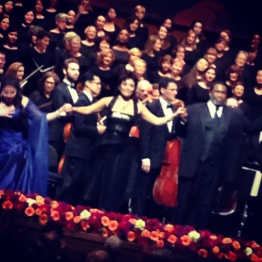 Soprano Aylin Perez performs live at the 2013 Richard Tucker Music Gala wearing Rubin SInger