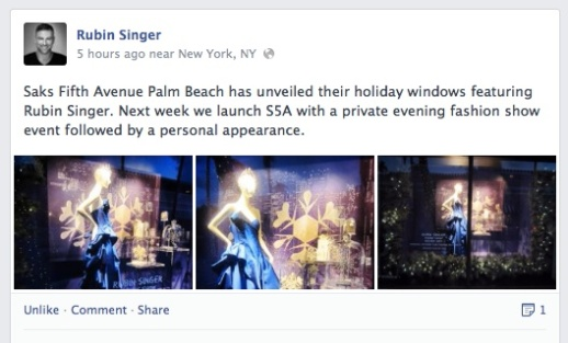 Saks Fifth Avenue Palm Beach Holiday Windows featuring Rubin Singer