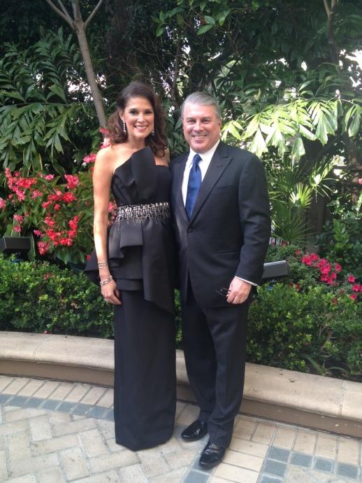 Lisa Harbert at the Golden Globes Gala and Diner wearing Rubin Singer