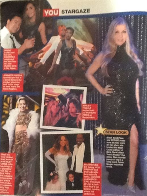 YOU Magazine South Africa features FERGIE wearing Rubin Singer