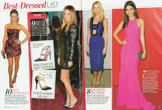Kate BeKate Beckinsale Best Dressed List on Life & Style Magazine wearing Rubin Singer