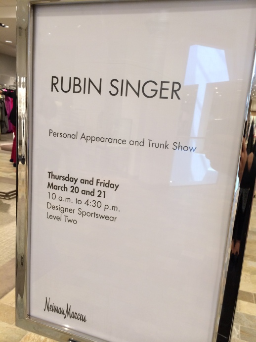 Rubin Singer Personal Appearance at Neiman Marcus Bal Harbour
