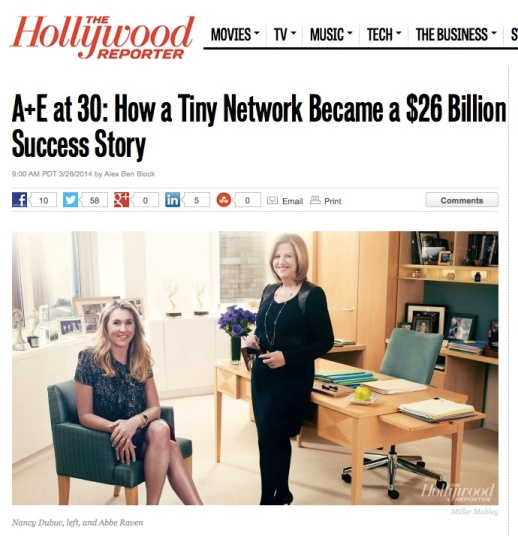 Abbe Raven Chairman at A+E Networks interviewed by The Hollywood Reporter wearing Rubin Singer