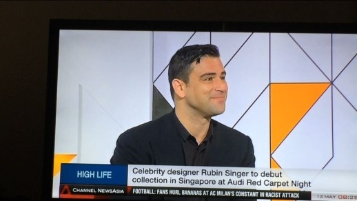 First RUBINSINGER interview of the day HIGHLIFE for First Look Asia on Channel News Asia in Singapore