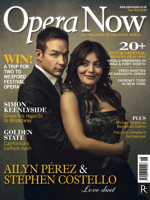 Ailyn Perez on the June issue of Opera Now wearing RUBINSINGER