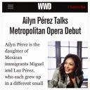 Soprano Ailyn Perez talks Metropolitan Opera Debut for WWD wearing RUBINSINGER