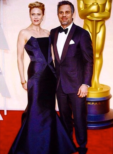 Sunrise Coeigny wearing RUBINSINGER at Oscars 2015