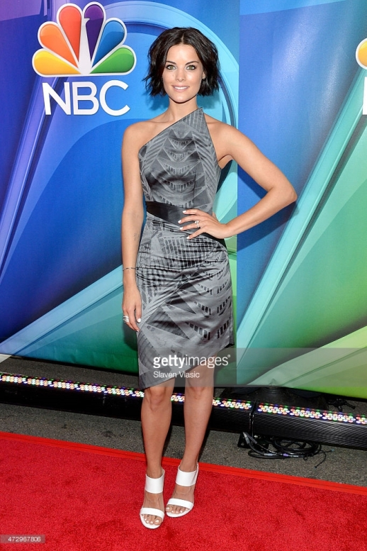 JAIMIE ALEXANDER WEARS RUBIN SINGER TO THE 2015 NBC UPFRONT PRESENTATIONS